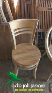 Kursi Cafe Minimalis Jati Model Bundar