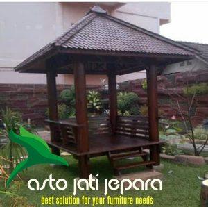 Gazebo Kayu Kelapa Minimalis Jepara