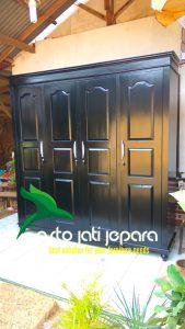 Lemari Baju Minimalis Black Jepara Modern