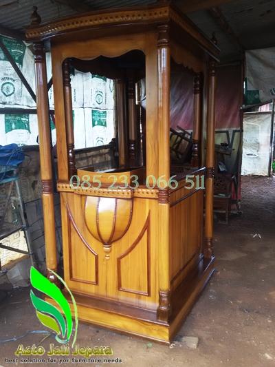 Mimbar Masjid Terbaru Kayu Jati