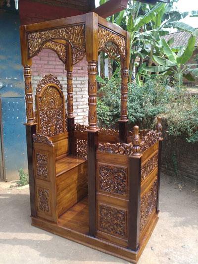 Mimbar Masjid Ukiran Modern Jati Jepara