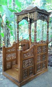 Mimbar Masjid Kubah Ukiran Jati Jepara