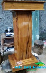 Podium Minimalis Kayu Jati Jepara