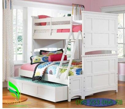 tempat-tidur-anak-tingkat-putih