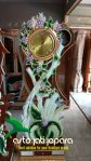 Jam Hias Jati Jepara Model Tulip