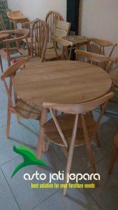 Meja Cafe Minimalis Jati Terbaru