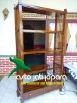 Rak Buku Kayu Jati Minimalis Jepara