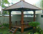 Gazebo Taman Minimalis Kayu Kelapa Jepara