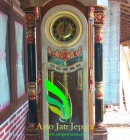 Jam Hias Jati Mahkota Jepara
