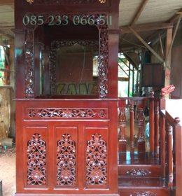 Mimbar Masjid Ukiran Jepara Desain Kubah