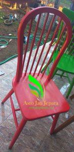 kursi cafe minimalis warna merah