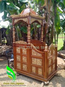 Mimbar Masjid Ukiran Terbaru Kubah Jepara