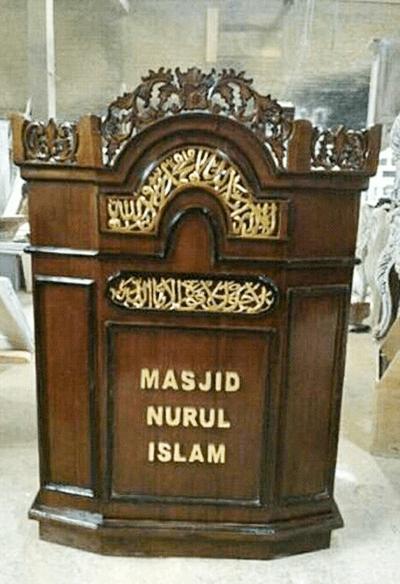 mimbar masjid ukir jepara custom