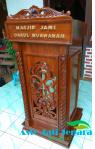 Podium Kayu Jati Pesanan Masjid Muawanah