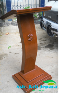 Podium Model Minimalis Jati Jepara