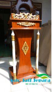 Podium Ukiran Jepara Kayu Jati