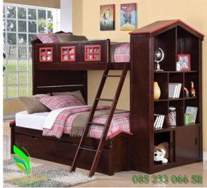 Tempat Tidur Anak Tingkat Desain Lemari