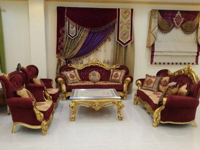 sofa-tamu-mewah-maroon