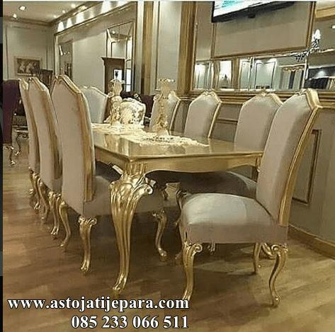 kursi makan mewah modern