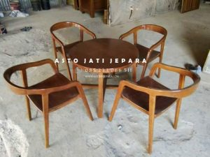 Kursi Cafe Meja Bundar Minimalis Jepara