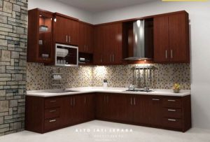 Kitchen Set Modern Kayu Blok