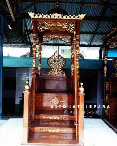 Contoh Mimbar Masjid Ukiran Pintu Depan