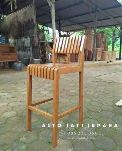 Kursi Bar Jati Jepara Minimalis Modern