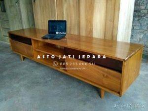 Meja Tv Minimalis Modern Kayu Jepara