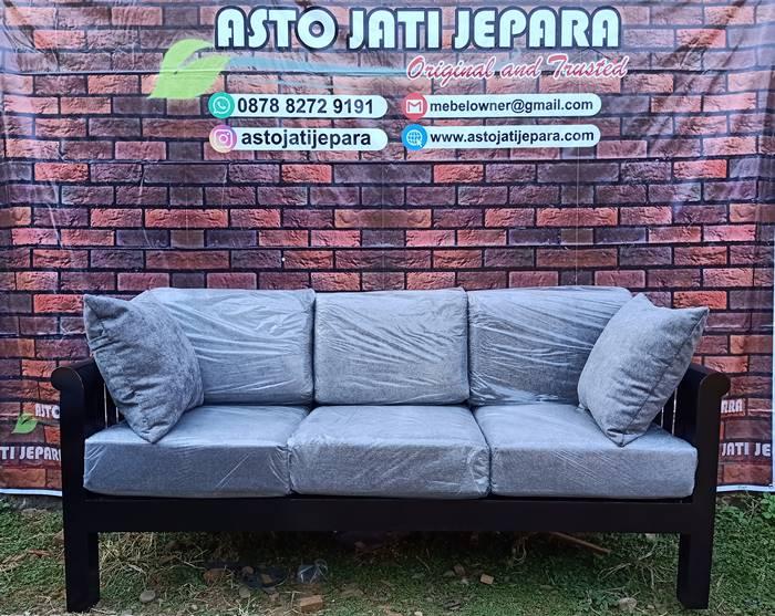 Sofa Tamu Jati Minimalis