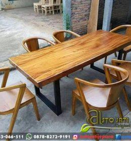 Meja Cafe Set Terbaru Daun Trembesi
