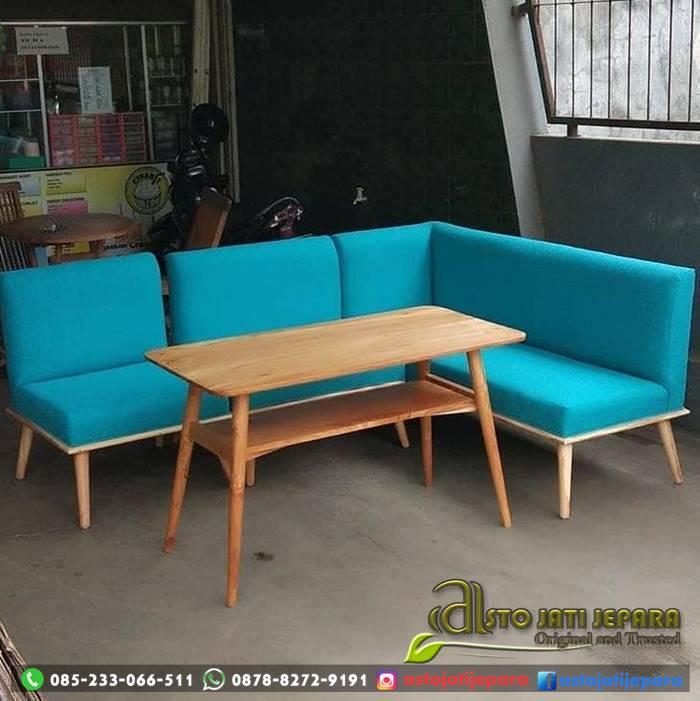 Set Kursi Cafe Sudut Minimalis ASTO - 218