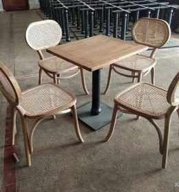 Set Meja Cafe Rotan Modern Asto - 240