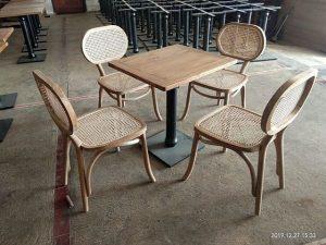 Set Meja Cafe Rotan Modern Asto 240