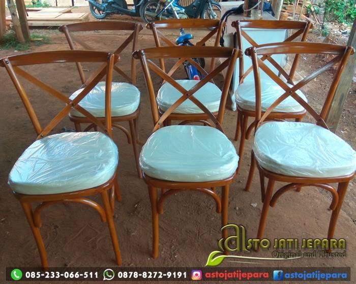 Kursi Cafe Cross Back Kayu Jati