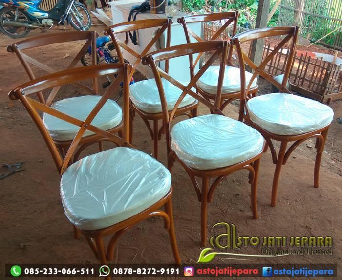 Kursi Cafe Jati Cross Back