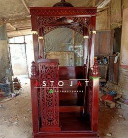 Mimbar Masjid Mewah Terbaru Ukir
