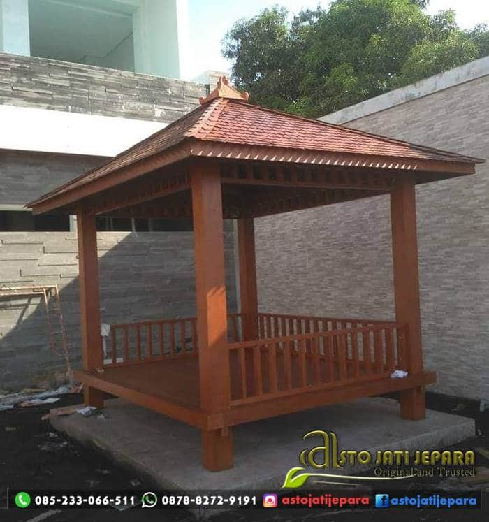 Gazebo Taman Kayu Jati Minimalis ASTO - 286
