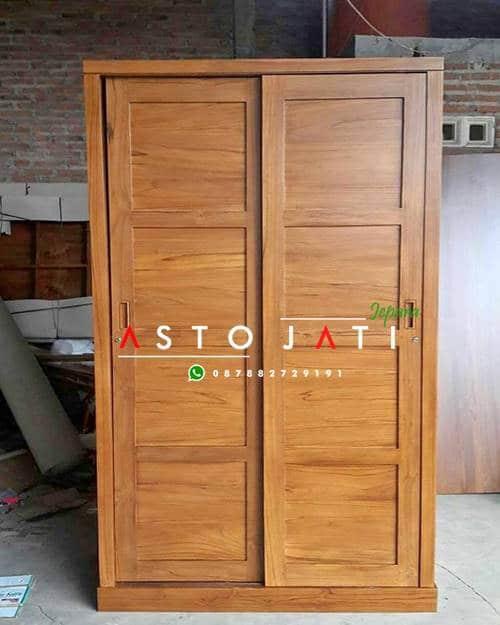 Lemari Baju Kayu Jati 2 Pintu ASTO - 296