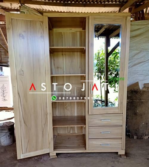 Lemari Baju Kayu Jati Terbaru ASTO - 293