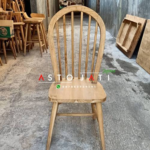 Kursi Cafe Jati Minimalis Slat ASTO - 332
