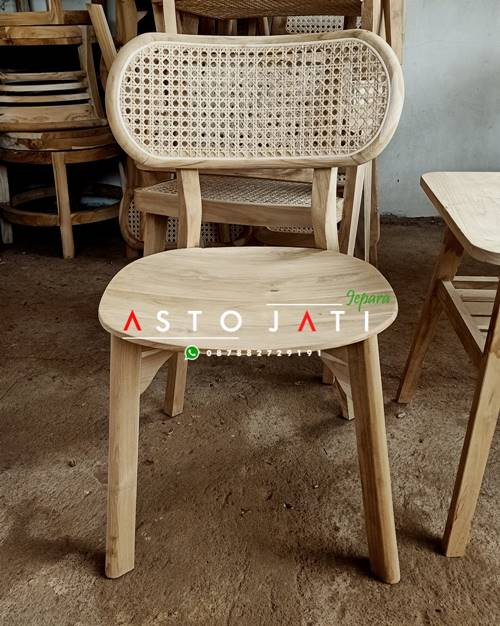 Kursi Cafe Rotan Minimalis Sunny
