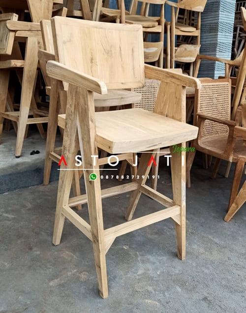 Kursi Bar Kayu Jati Kelvin ASTO - 357