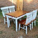 Meja Makan Warna Putih Kekinian ASTO - 343